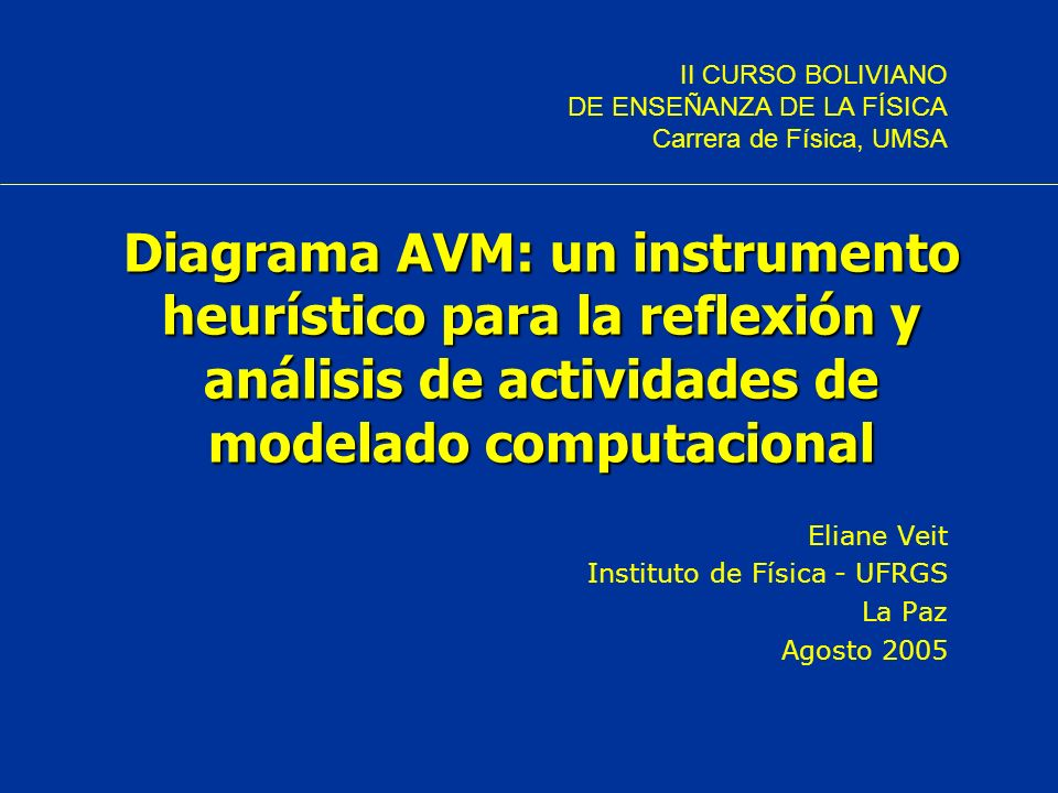 Eliane Veit Instituto de Física - UFRGS La Paz Agosto 2005