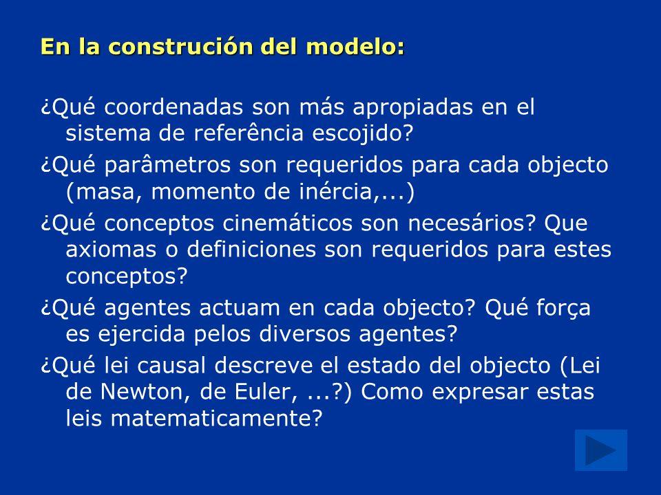En la construción del modelo: