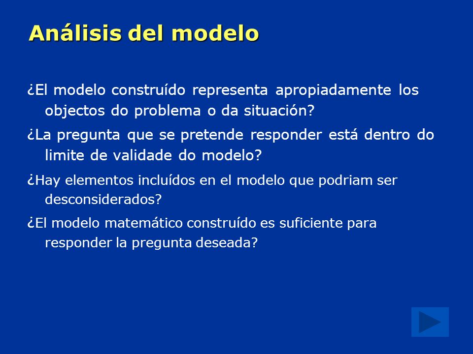 Análisis del modelo