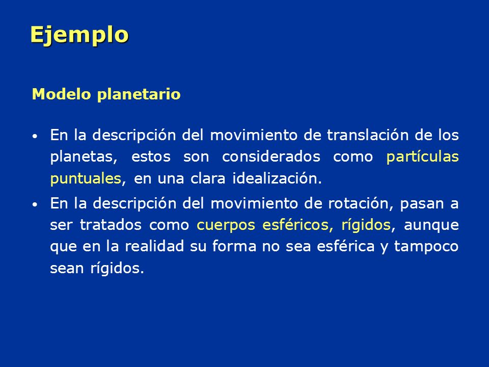 Ejemplo Modelo planetario