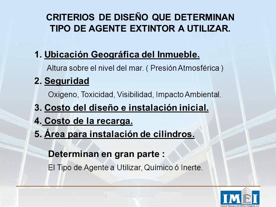 CRITERIOS DE DISEÑO QUE DETERMINAN TIPO DE AGENTE EXTINTOR A UTILIZAR.