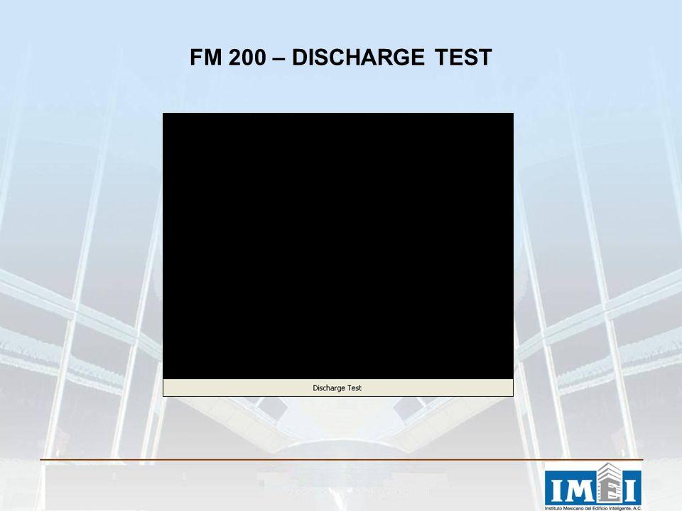 FM 200 – DISCHARGE TEST
