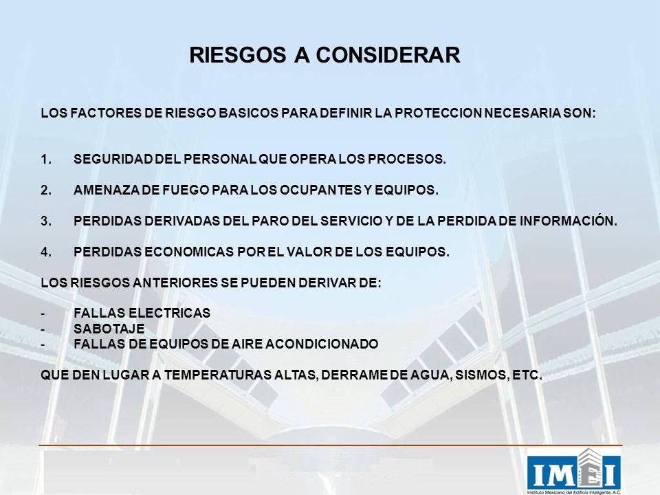 RIESGOS A CONSIDERAR LOS FACTORES DE RIESGO BASICOS PARA DEFINIR LA PROTECCION NECESARIA SON: SEGURIDAD DEL PERSONAL QUE OPERA LOS PROCESOS.