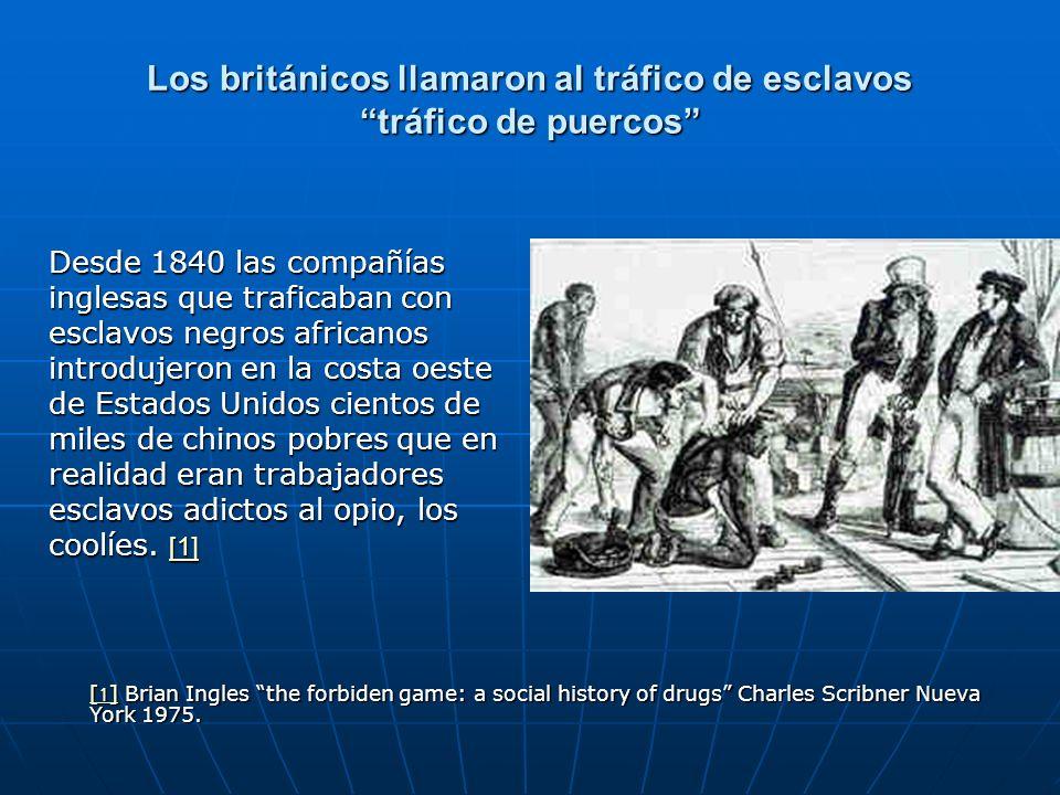 Los británicos llamaron al tráfico de esclavos tráfico de puercos