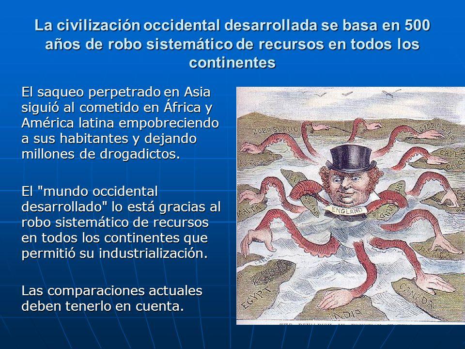 La civilización occidental desarrollada se basa en 500 años de robo sistemático de recursos en todos los continentes