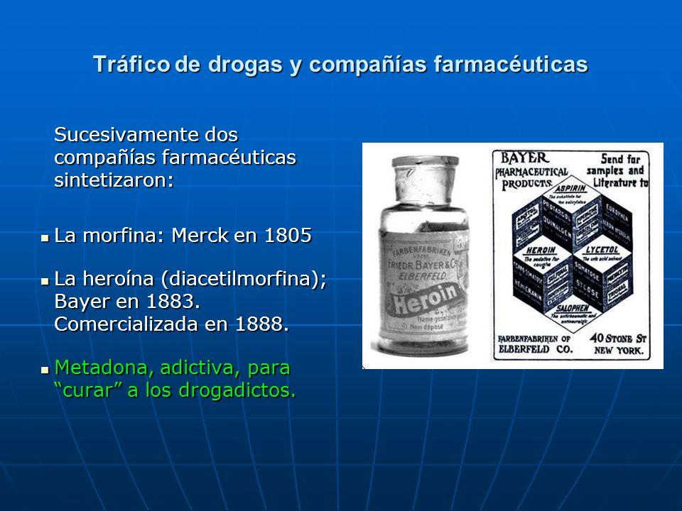Tráfico de drogas y compañías farmacéuticas