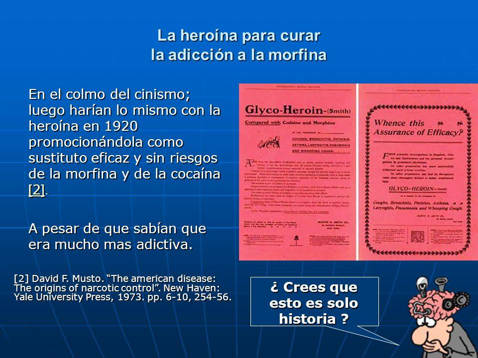 La heroína para curar la adicción a la morfina