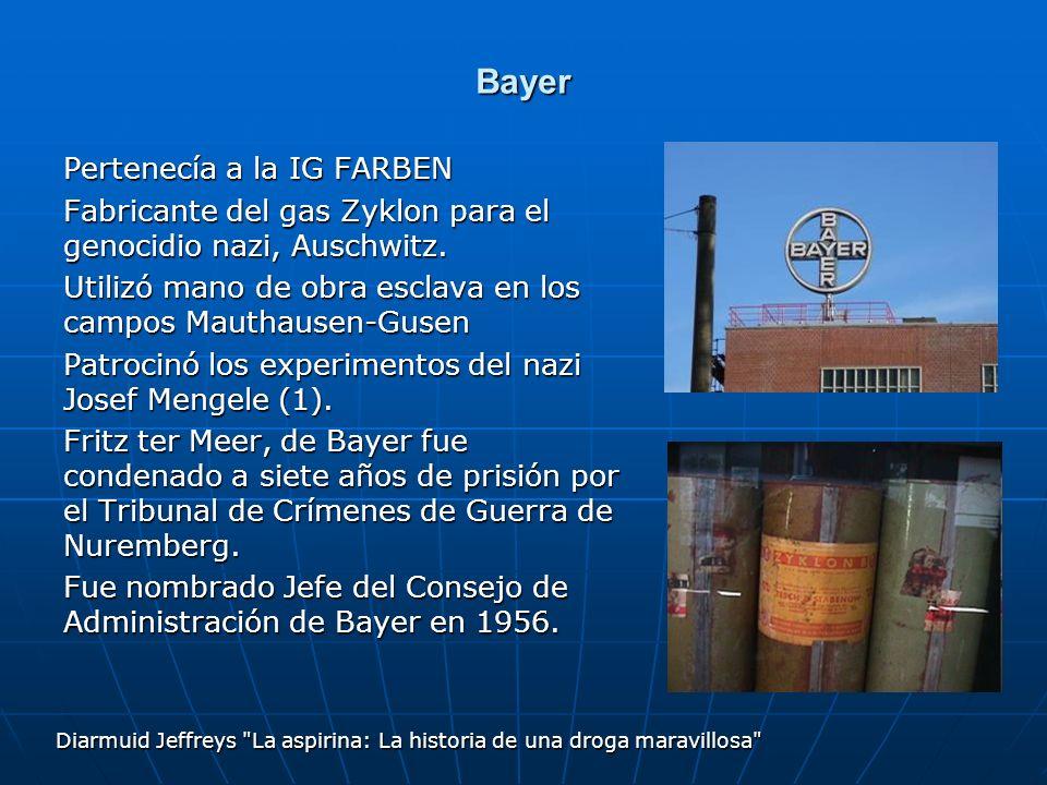 Bayer Pertenecía a la IG FARBEN