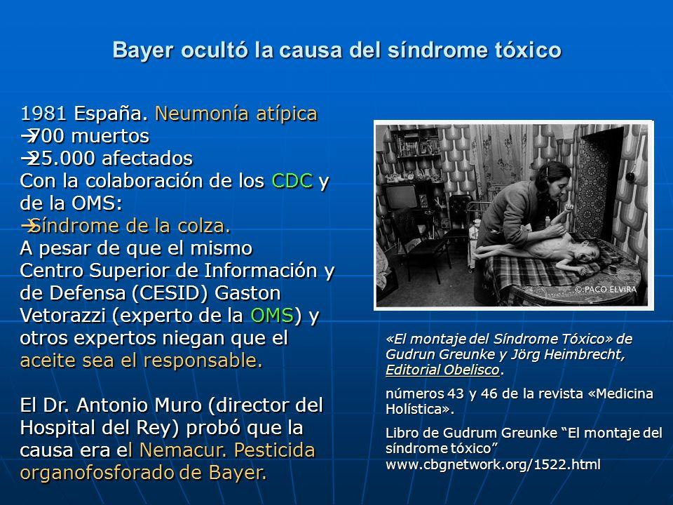 Bayer ocultó la causa del síndrome tóxico