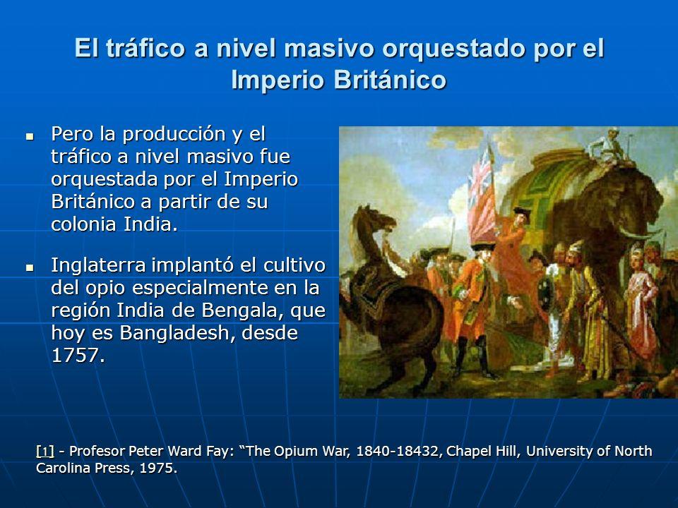 El tráfico a nivel masivo orquestado por el Imperio Británico