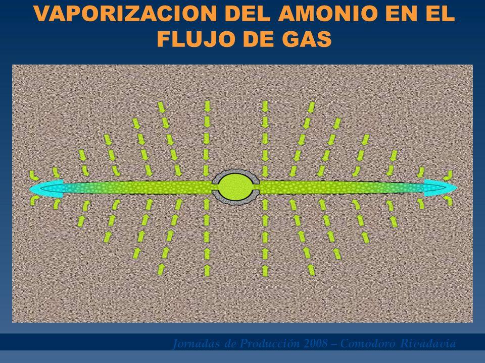 VAPORIZACION DEL AMONIO EN EL FLUJO DE GAS