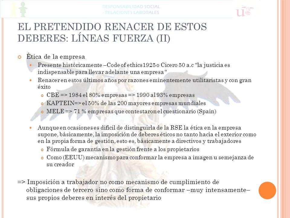 EL PRETENDIDO RENACER DE ESTOS DEBERES: LÍNEAS FUERZA (II)