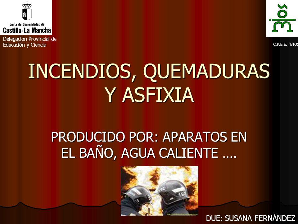 INCENDIOS, QUEMADURAS Y ASFIXIA