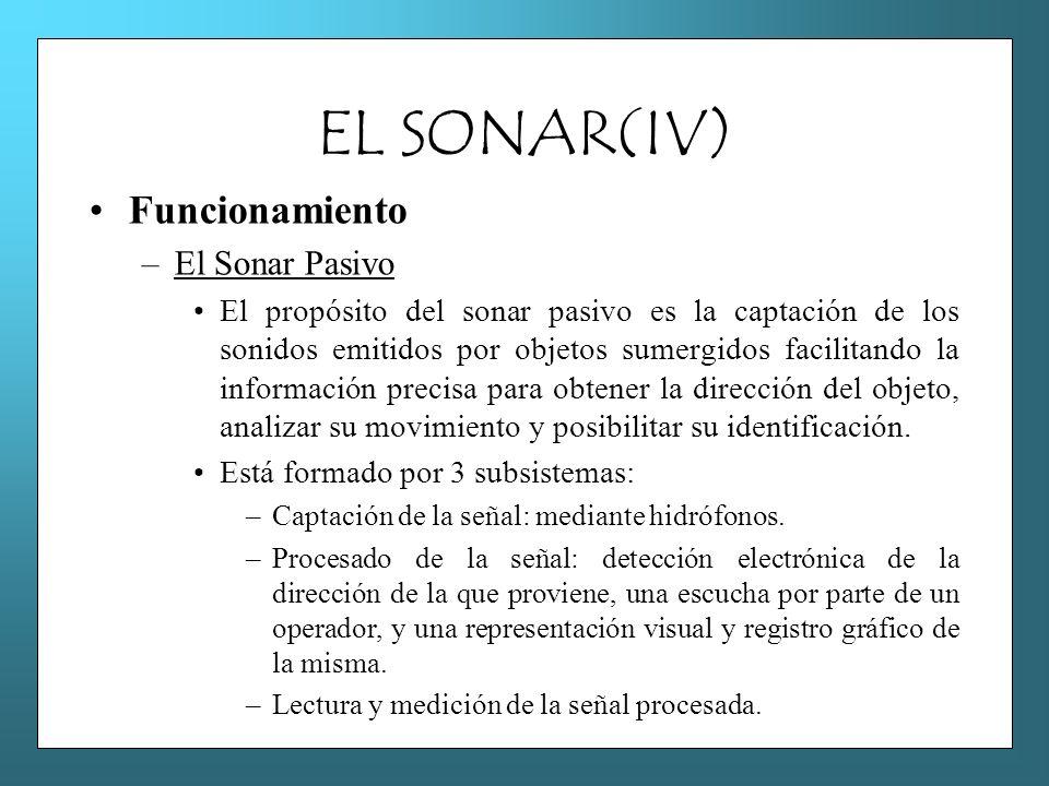 EL SONAR(IV) Funcionamiento El Sonar Pasivo