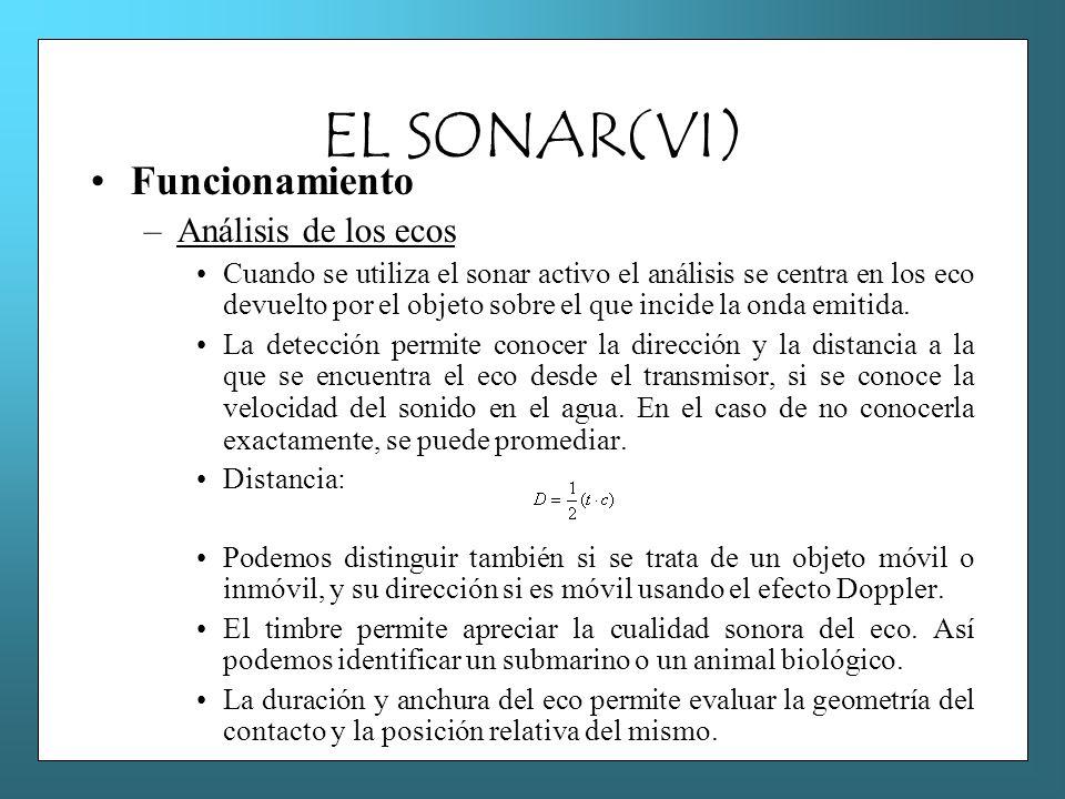 EL SONAR(VI) Funcionamiento Análisis de los ecos