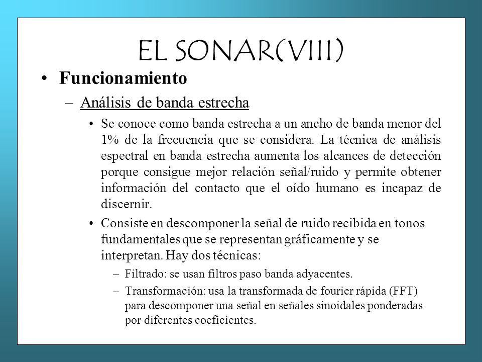 EL SONAR(VIII) Funcionamiento Análisis de banda estrecha