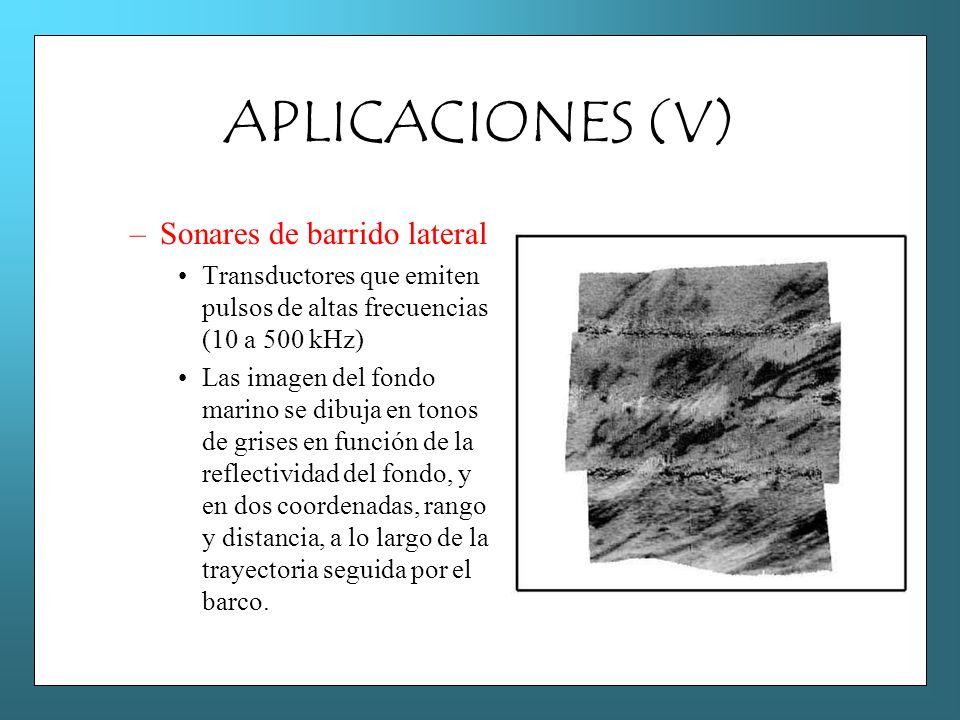 APLICACIONES (V) Sonares de barrido lateral