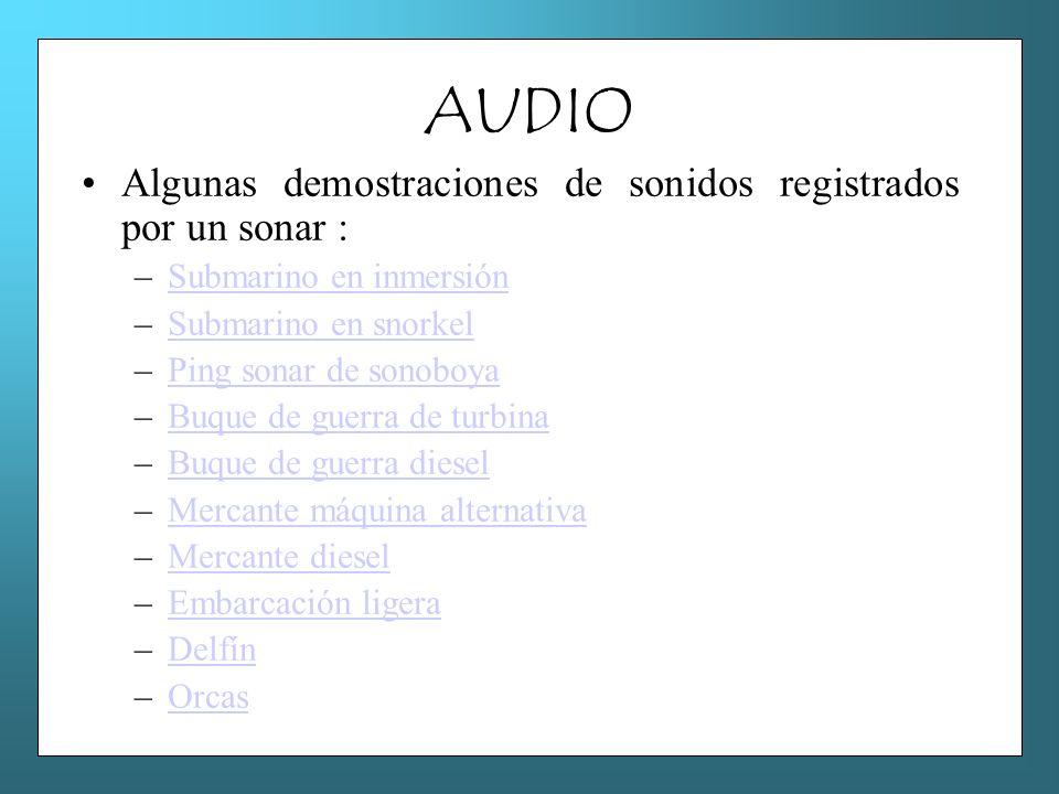 AUDIO Algunas demostraciones de sonidos registrados por un sonar :