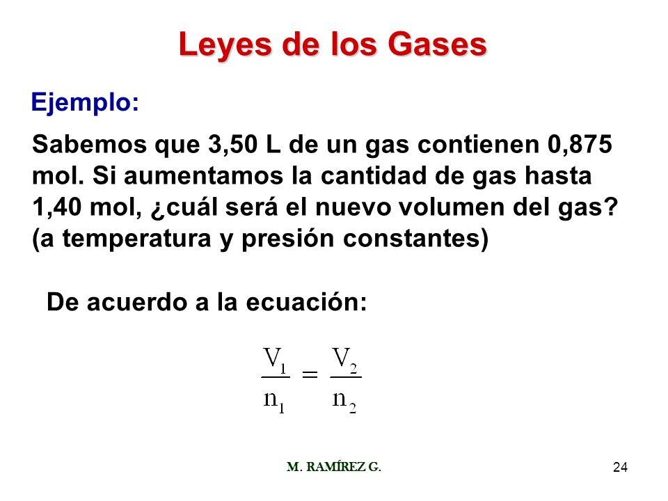 Leyes de los Gases Ejemplo: