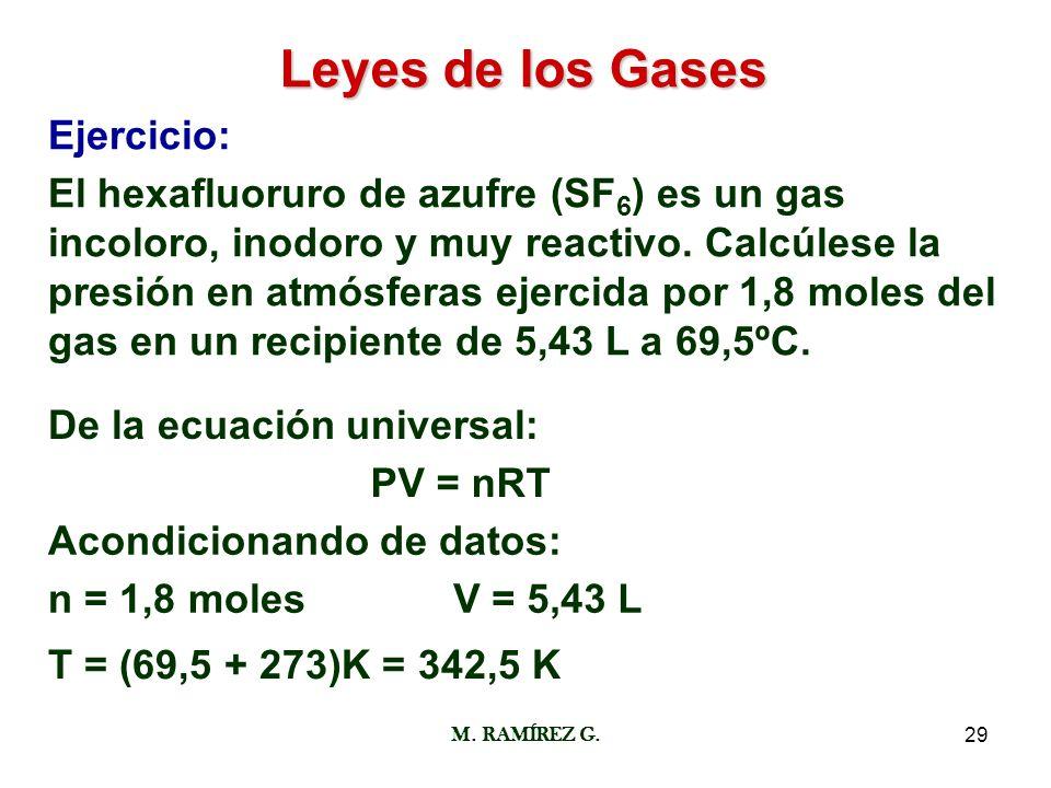 Leyes de los Gases Ejercicio: