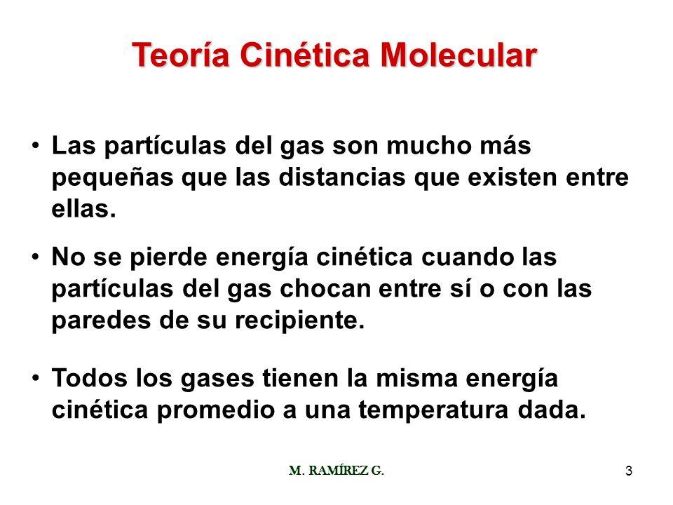 Teoría Cinética Molecular