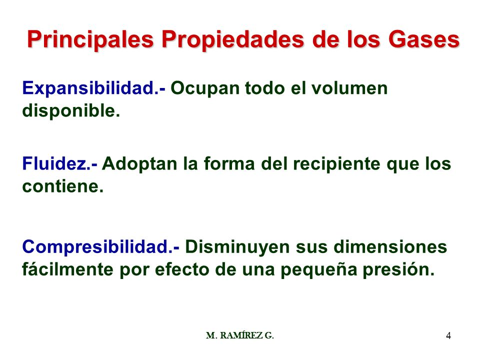 Principales Propiedades de los Gases