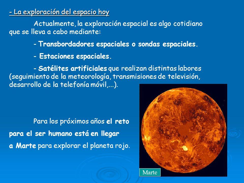 - La exploración del espacio hoy