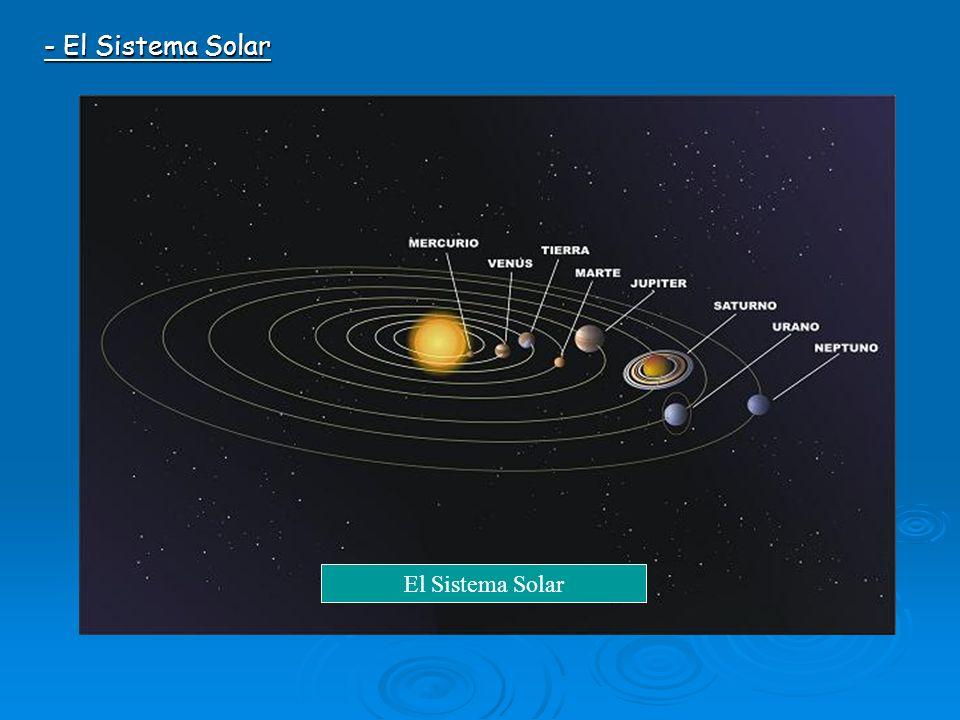 - El Sistema Solar El Sistema Solar