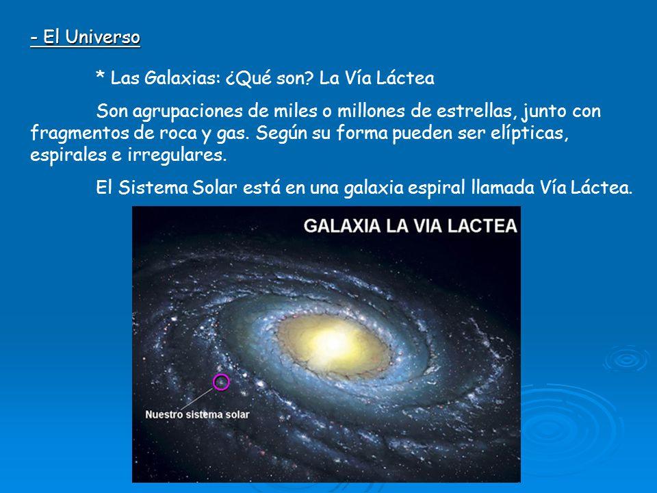 - El Universo * Las Galaxias: ¿Qué son La Vía Láctea.