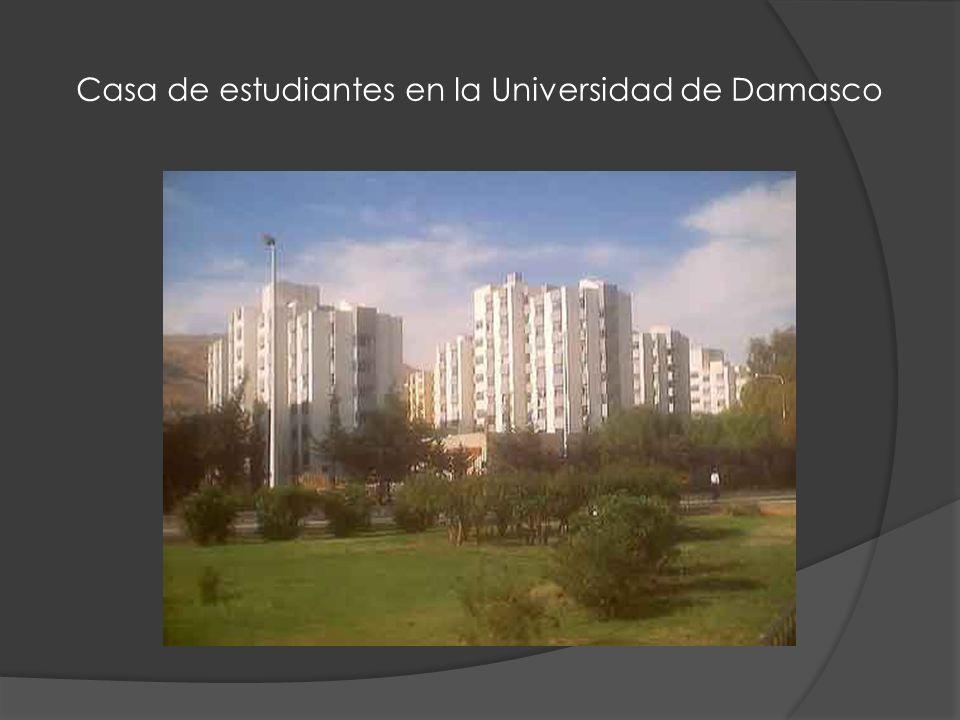 Casa de estudiantes en la Universidad de Damasco