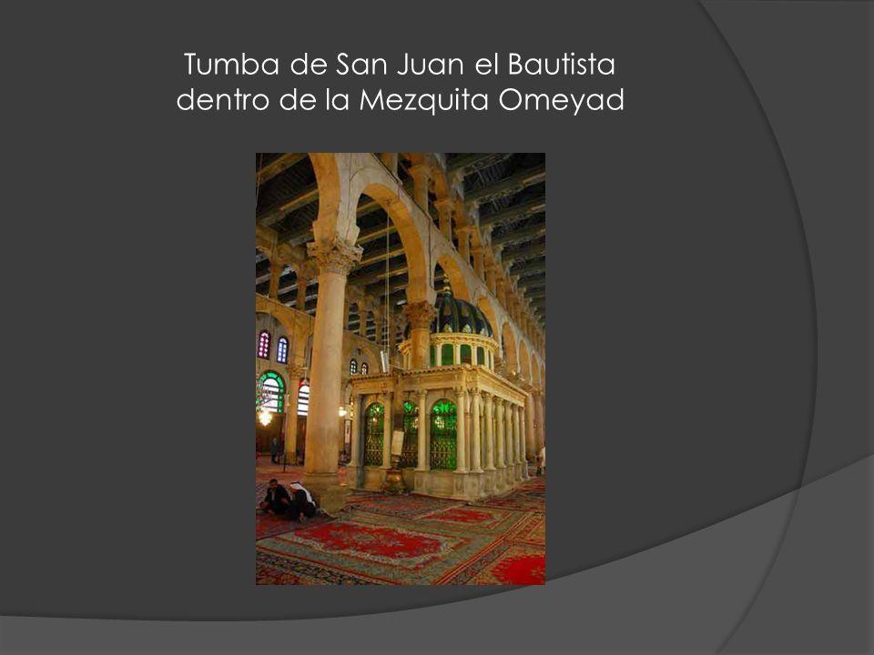 Tumba de San Juan el Bautista dentro de la Mezquita Omeyad