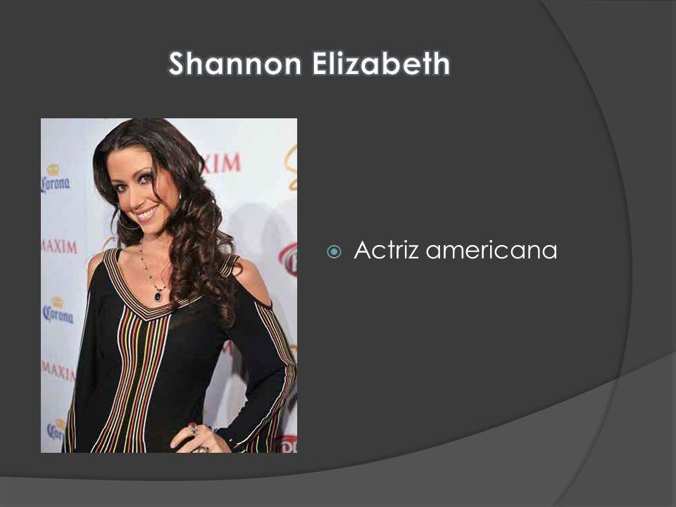 Shannon Elizabeth Actriz americana