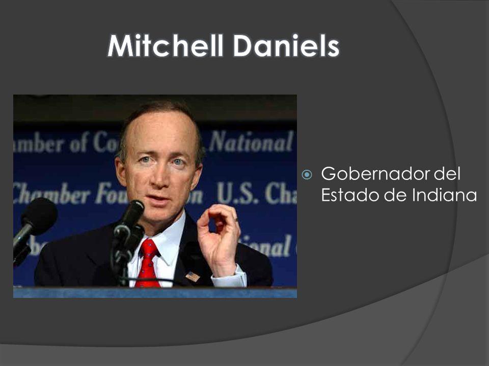 Mitchell Daniels Gobernador del Estado de Indiana