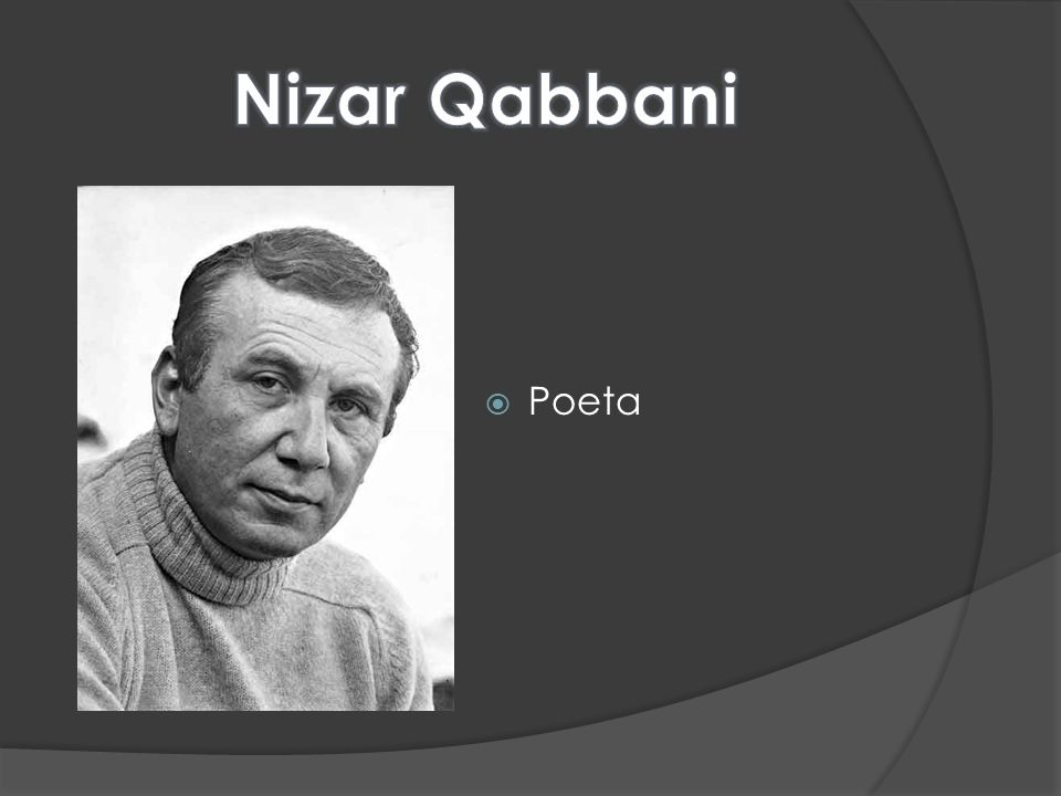 Nizar Qabbani Poeta