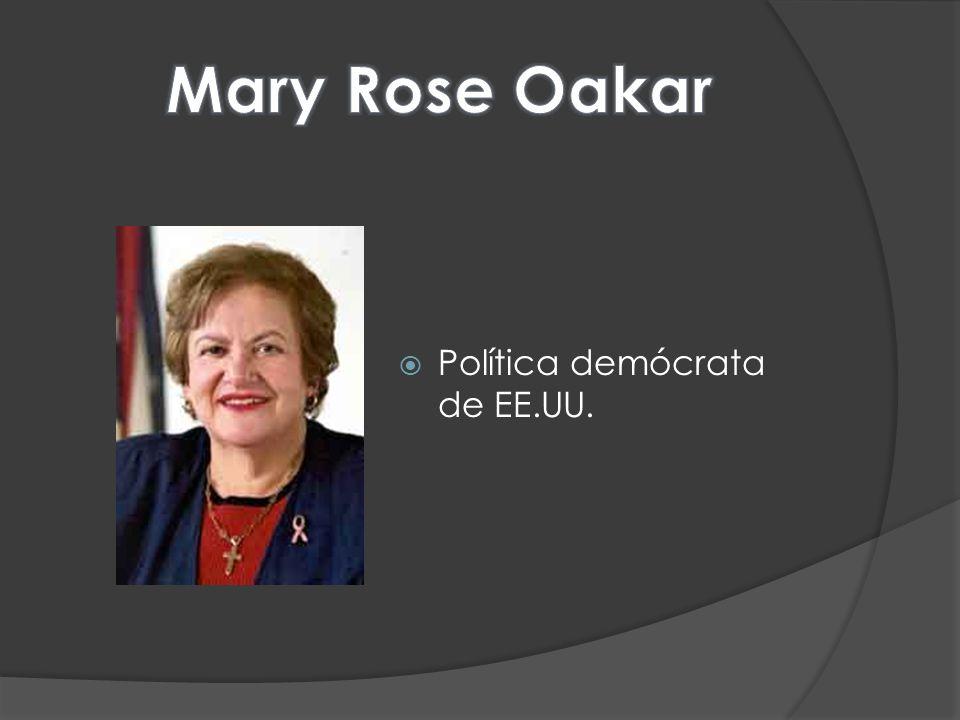 Mary Rose Oakar Política demócrata de EE.UU.