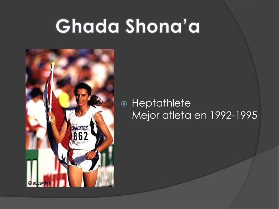 Ghada Shona'a Heptathlete Mejor atleta en 1992-1995