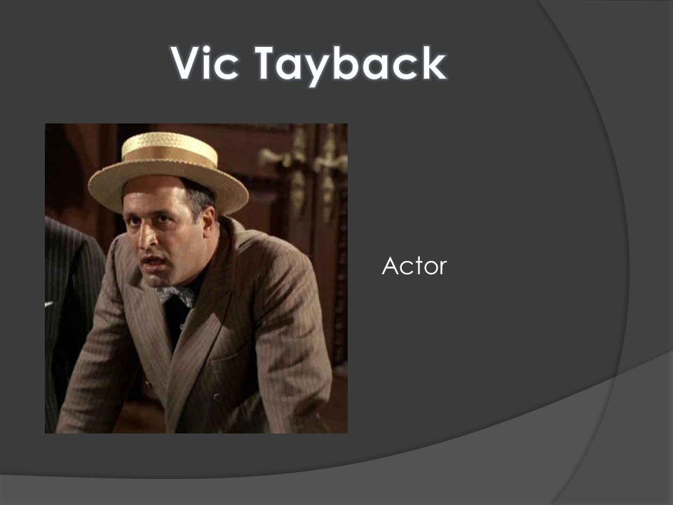 Vic Tayback Actor