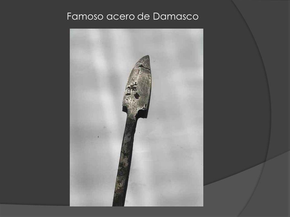Famoso acero de Damasco