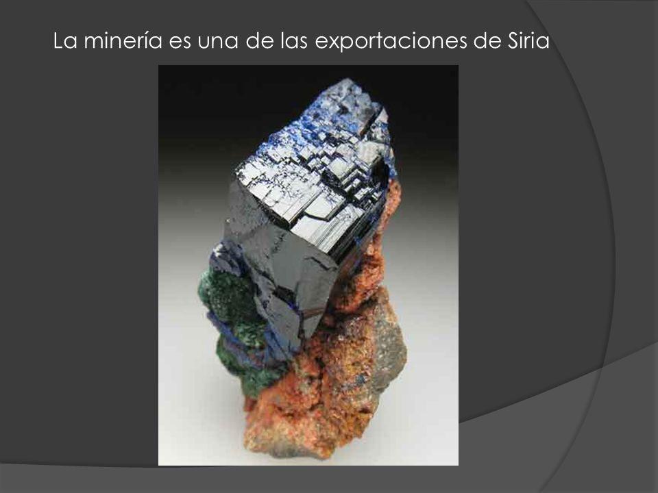 La minería es una de las exportaciones de Siria