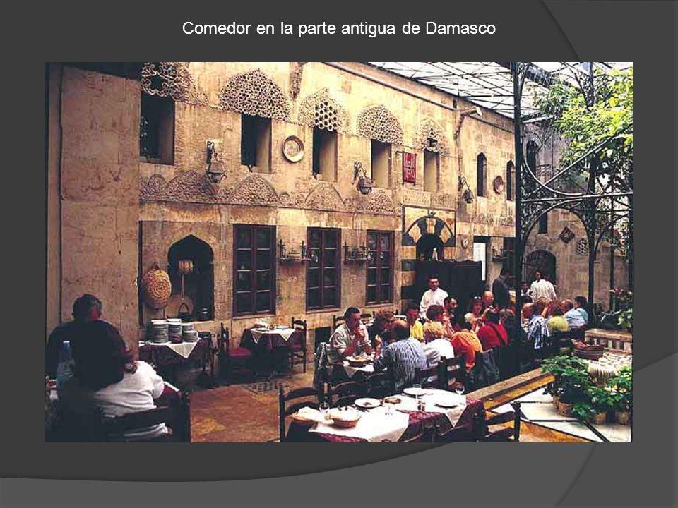 Comedor en la parte antigua de Damasco