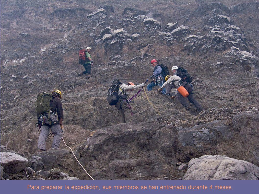 Para preparar la expedición, sus miembros se han entrenado durante 4 meses.