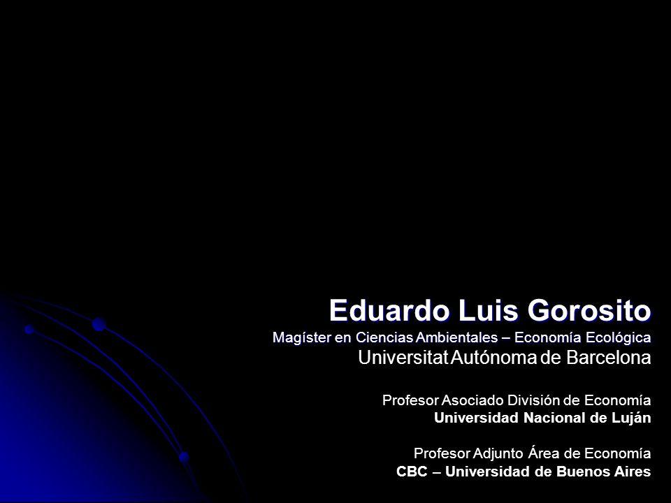 Eduardo Luis Gorosito Universitat Autónoma de Barcelona