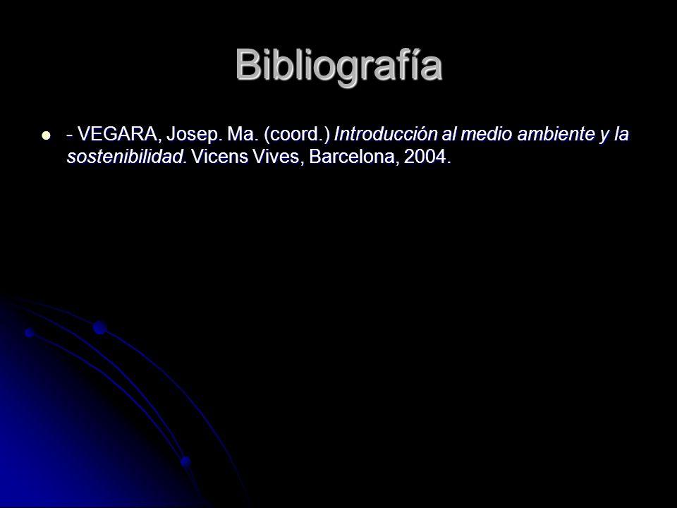 Bibliografía - VEGARA, Josep. Ma.