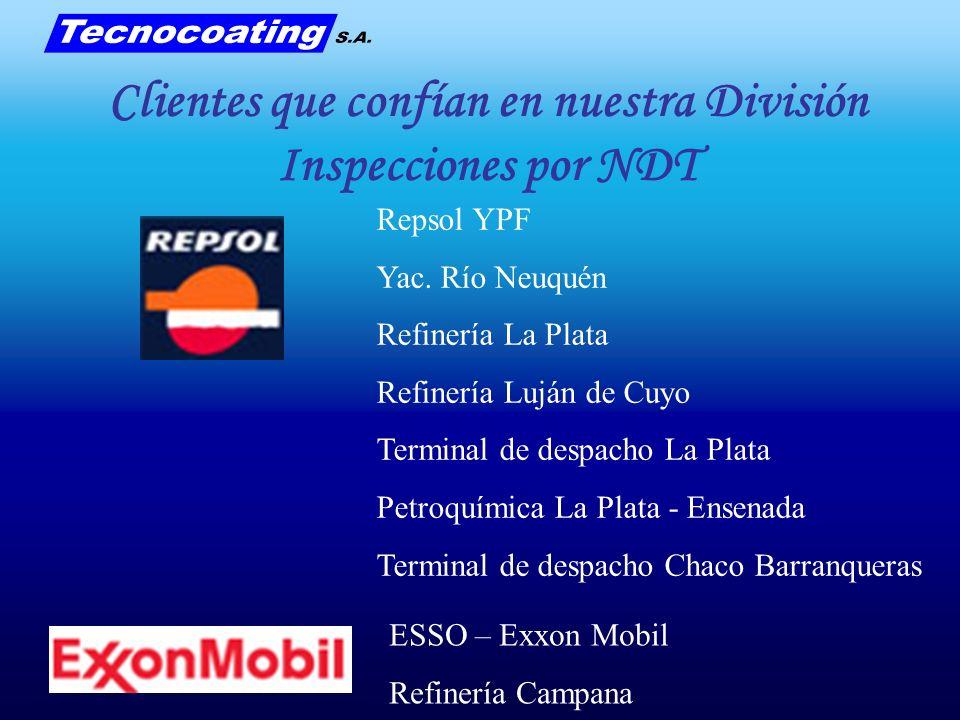 Clientes que confían en nuestra División Inspecciones por NDT