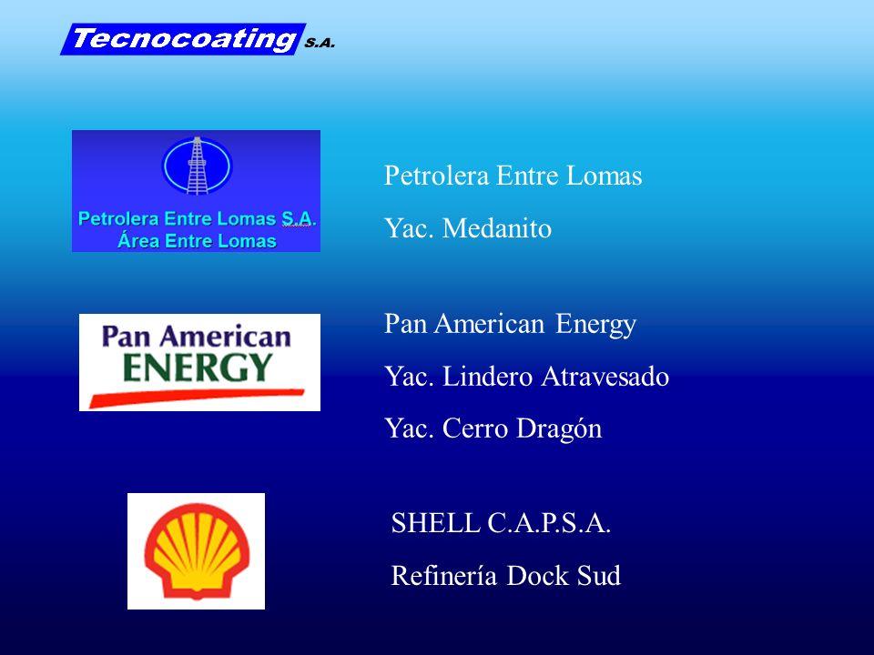 Petrolera Entre Lomas Yac. Medanito. Pan American Energy. Yac. Lindero Atravesado. Yac. Cerro Dragón.