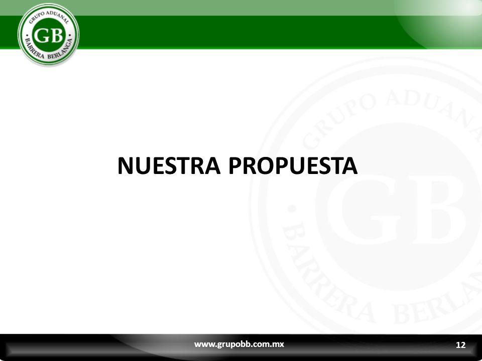 NUESTRA PROPUESTA www.grupobb.com.mx 12 12