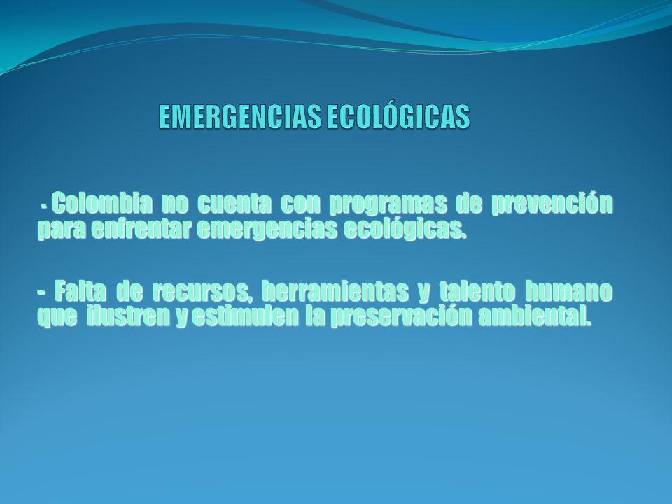EMERGENCIAS ECOLÓGICAS