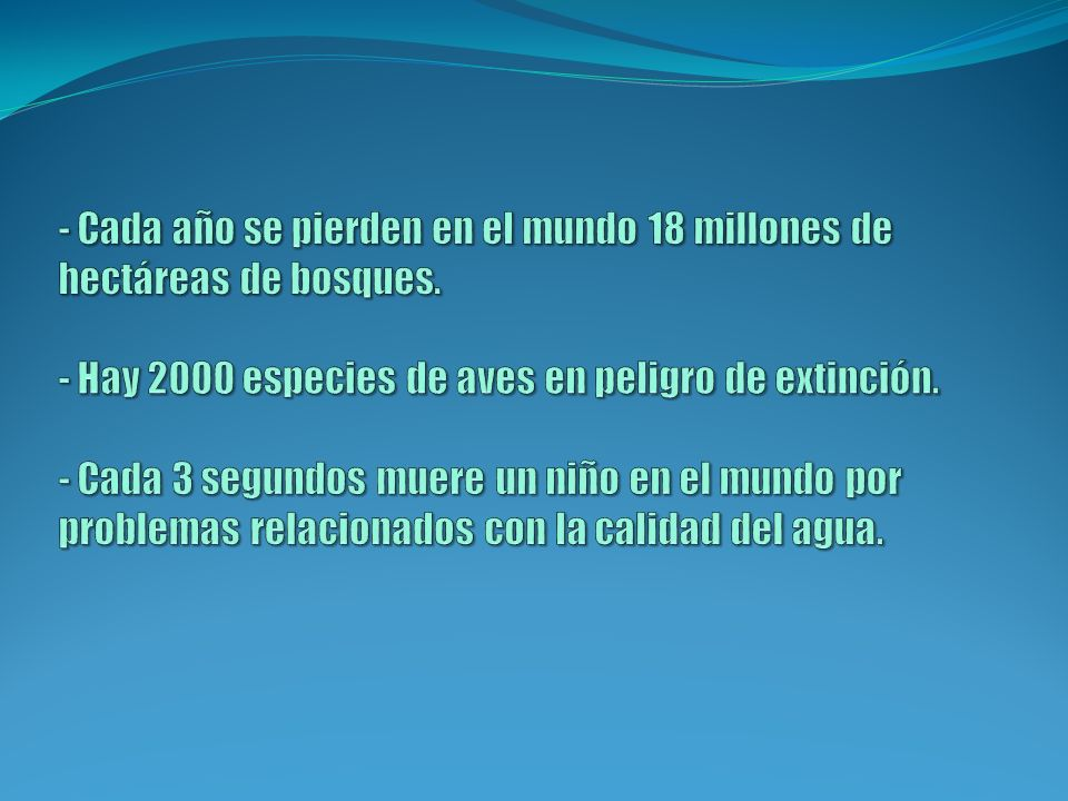 - Cada año se pierden en el mundo 18 millones de hectáreas de bosques