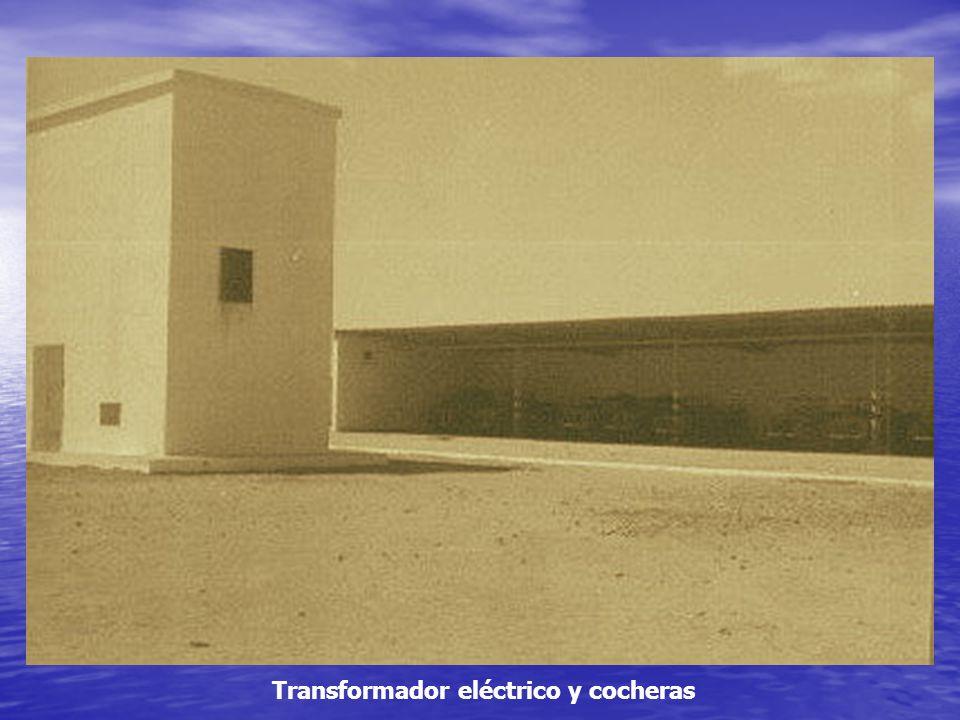 Transformador eléctrico y cocheras