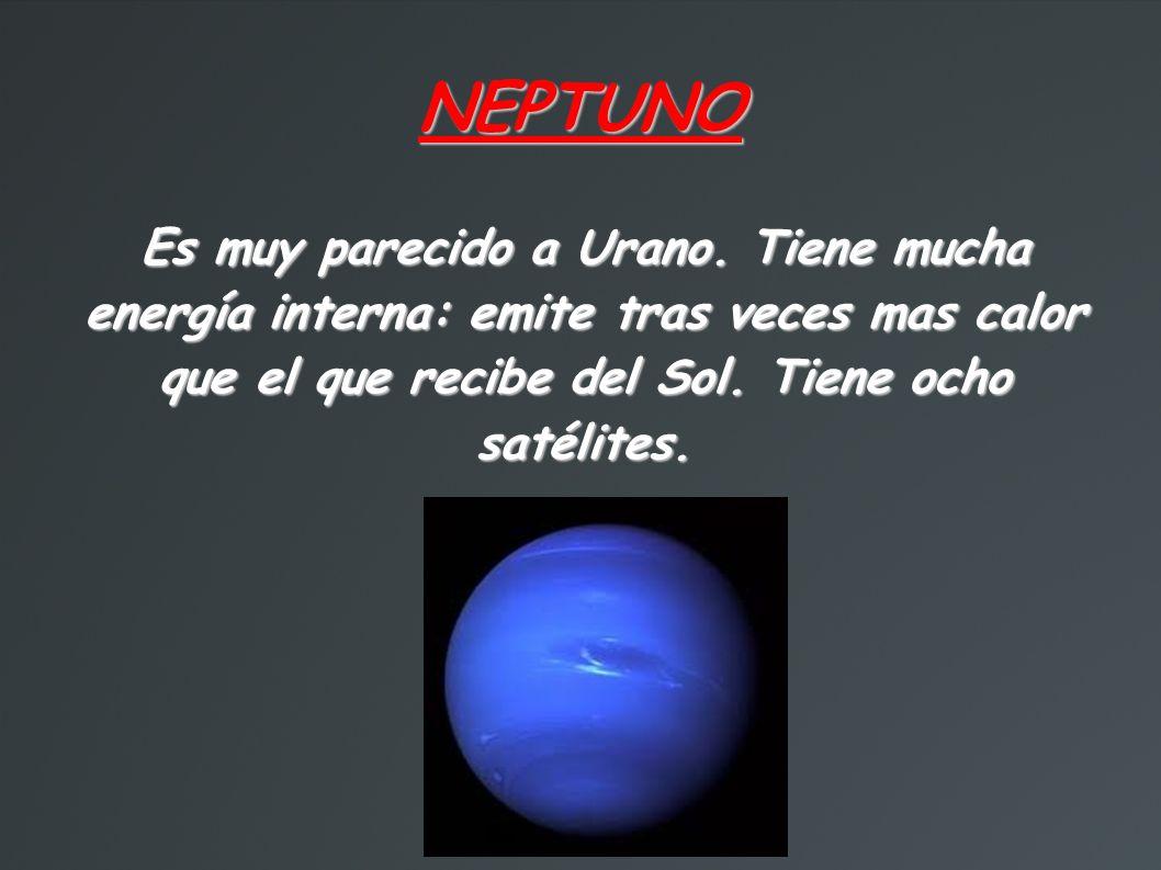 NEPTUNO Es muy parecido a Urano.